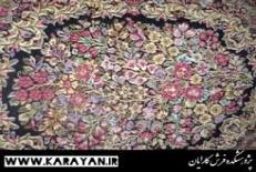 نقوش گل فرنگ ( گل رز ) و گل سرخ ایرانی در فرش ایرانی